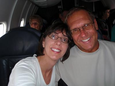 On the plane in Atlanta!