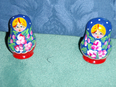 Jenny's Russian souvenirs - two kitchen magnets