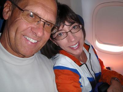 On the airplane in Copenhagen!