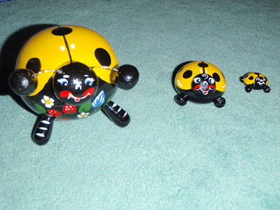 Jenny's Russian souvenirs - nested lady bugs!