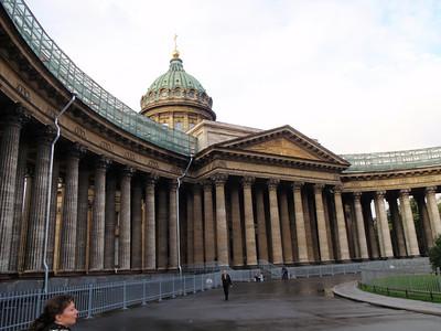 Kazansky Cathedral - 96 columns facing Nevsky Prospect (central city thoroughfare).
