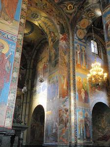 Arched walls of mosaics