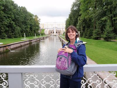 Jenny at the Peterhof Palace