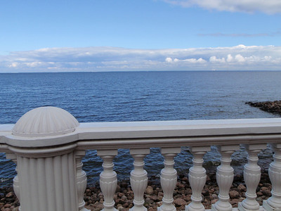 View of the sea from Peterhof gardens