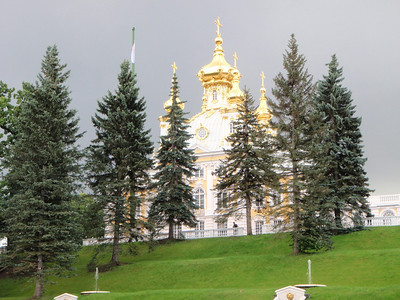 Gothic Chapel in Peterhof is an Russian Orthodox Church
