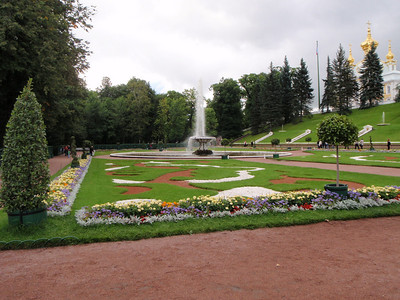 Beautiful grounds at the Peterhof
