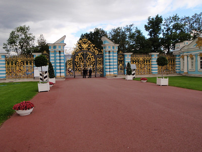 Looking back at the gates