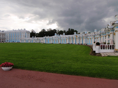 "The right ""front yard"" of the Catherine Palace"