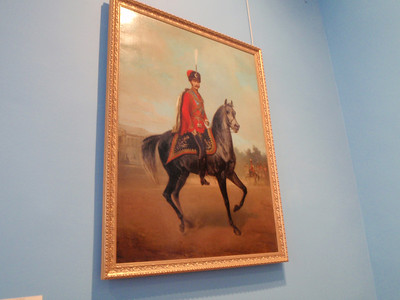 Portrait of one of the Emperors on horseback