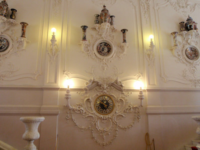 Catherine Palace - wall of the grand staircase