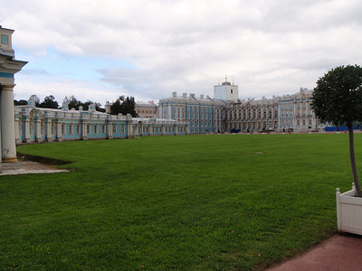 "The left ""front yard"" of the Catherine Palace"