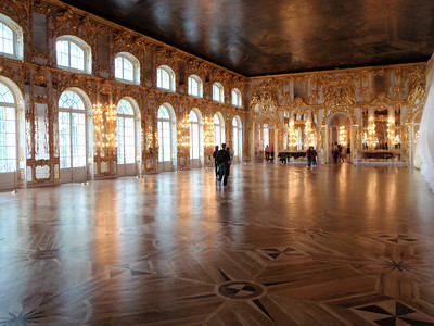 Inlaid wooden floor in Great Hall (Grand Ballroom)