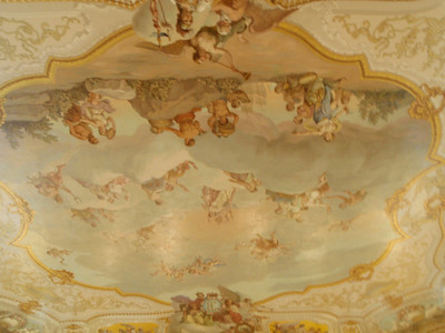Painted ceiling in palace room
