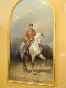 Portrait of Emperor Alexander III on horseback