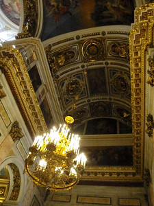Gold-gilded ceiling