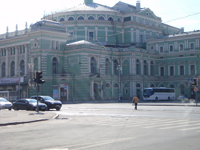 Driving past the Mariinsky Theater