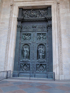 Bronze entry doors to St. Isaac's Cathedral