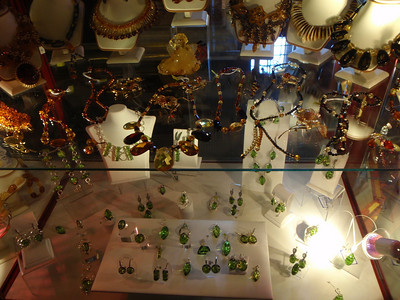 Amber and green jewelry for sale in St. Isaac's