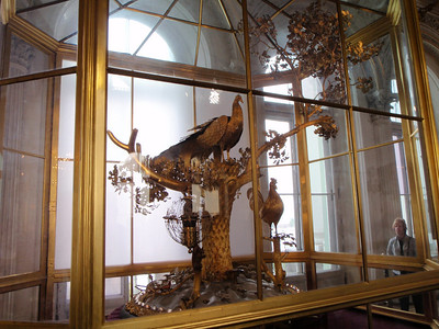 The Peacock Clock in Pavilion Hall is the only large 18th-century automaton in the world to still be functioning in its original unaltered condition.  Numerous moving gold-gilded animals!