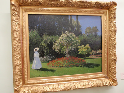 """Lady in the Garden"" by Claude Monet"