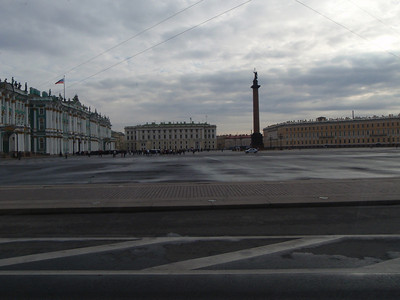 Palace Square with the Hermitage on the left