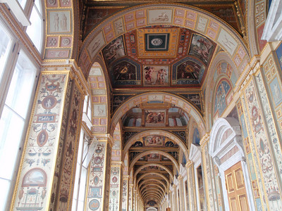 The Raphael Loggias - replica of frescos painted by Raphael in the Papal Palace in the Vatican