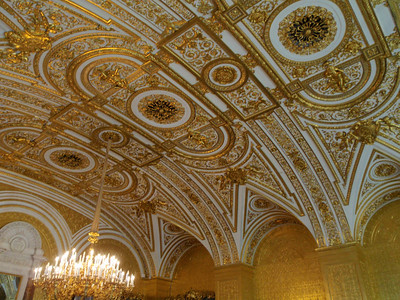Detailed ceiling in The Gold Drawing Room