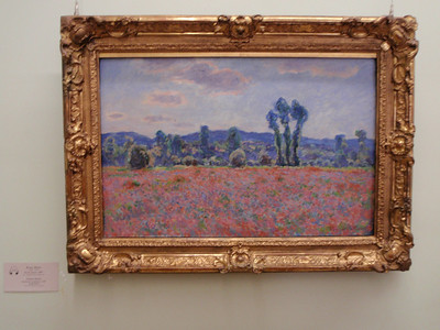"""Poppy Field"" by Claude Monet  (Note: all the paintings were protected only by some stern looking large Russian woman in a chair on the other side of the room)"