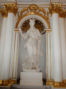 Statue in the Main Gallery Staircase