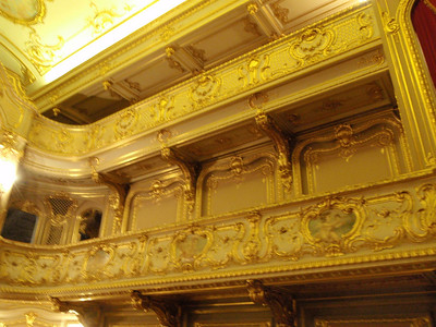 Gilded balconies of Palace Theater