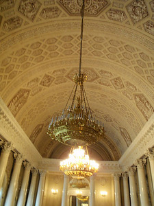 Corinthian columns and ceiling of the Banquet Hall