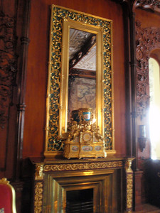 Exquisite mantel and mirror