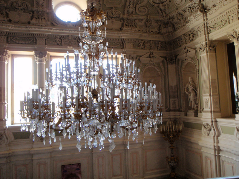 Detailed view of chandelier