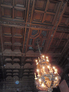 Ceiling in Oak Dining Room