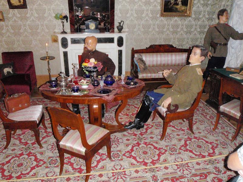 Scene of those planning Rasputin's murder (wax figures)