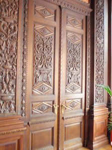 Door in Oak Dining Room
