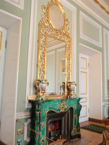 Malachite fireplace in the Green Room.
