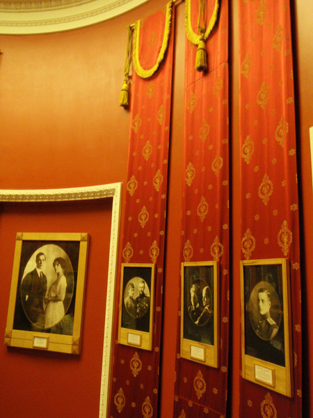 Room with pictures of the Yusupov family
