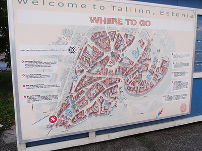 WELCOME TO TALLINN city map at pier