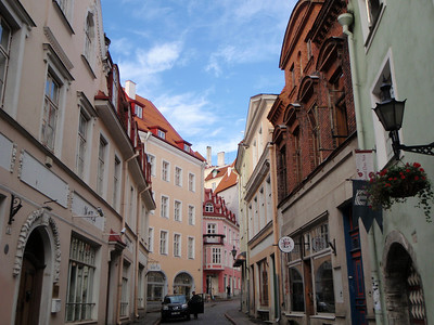 Streets of Tallinn with varying architecture