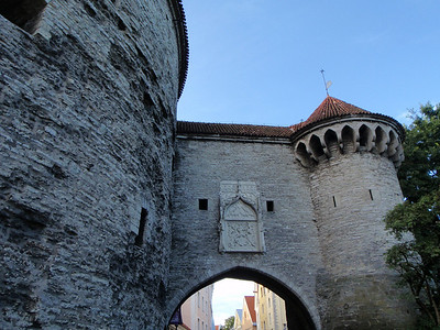 One of the entrances to Tallinn's walled city