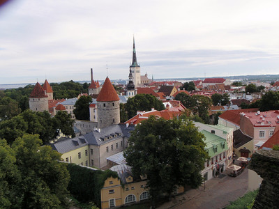 View of Tallinn from the top of the city