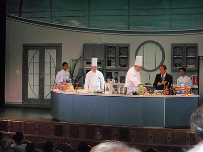 Jenny attends the ship's culinary demonstration in the Princess Theater