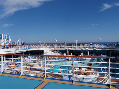 Many cruisers enjoy the warm weather and sunny skies!