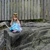 Swedish princess on a rock
