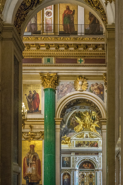 St. Issac's Cathedral - Malachite Columns on the Iconostasis