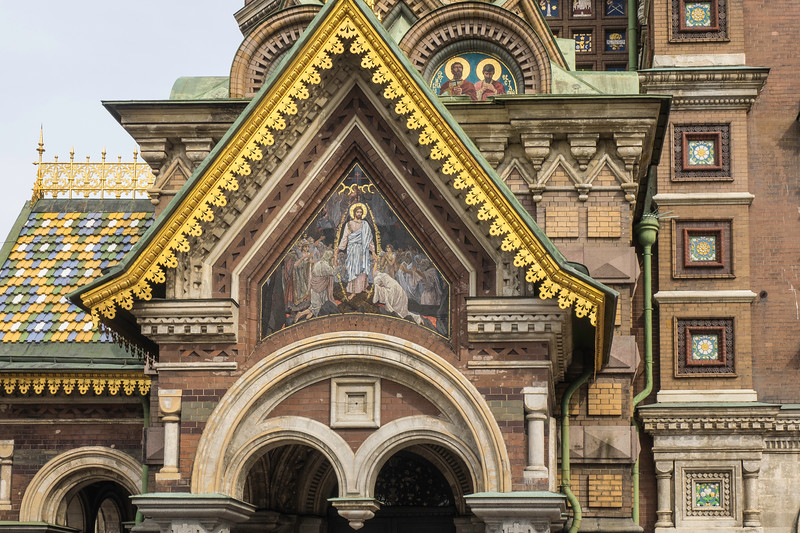 Church on Spilled Blood. - Mosaic of the Resurrection