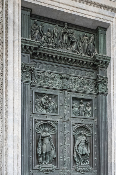 St. Issac's Cathedral  - St. Petersburg, Russia designed in 1818 opened 1858 Bronze Doors