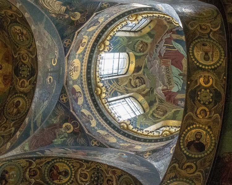 Church on Spilled Blood - Dome with Angels and Saints