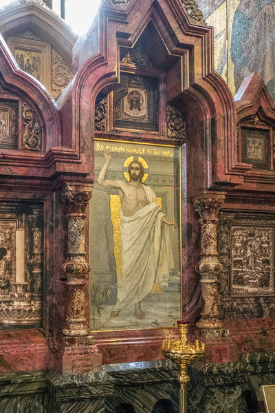 Church on Spilled Blood - Church of the Resurrection - Mosaic of Christ on the Iconostasis